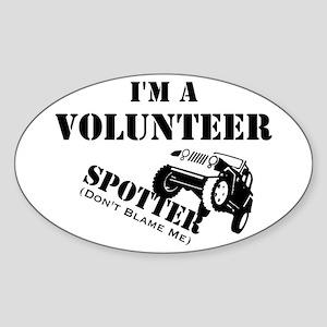 Volunteer Spotter Sticker (Oval)