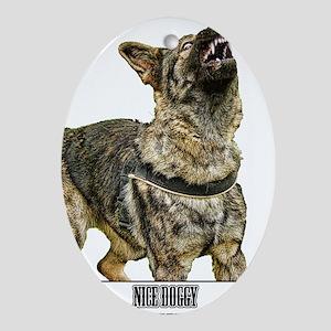 Nice Doggy - Schutzhund Ornament (Oval)