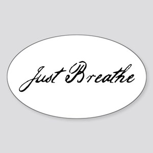 Just Breathe Sticker (Oval)