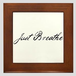 Just Breathe Framed Tile