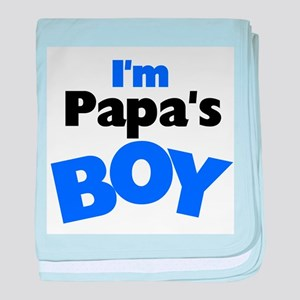 I'm Papa's Boy baby blanket