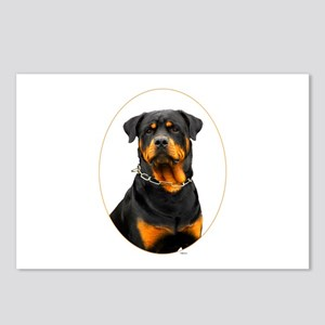 Rottweiler Oval Postcards (Package of 8)