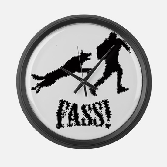 Fass Silhouette Large Wall Clock