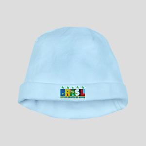 Brazilian World cup soccer baby hat