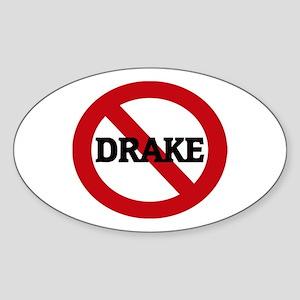 Anti-Drake Oval Sticker