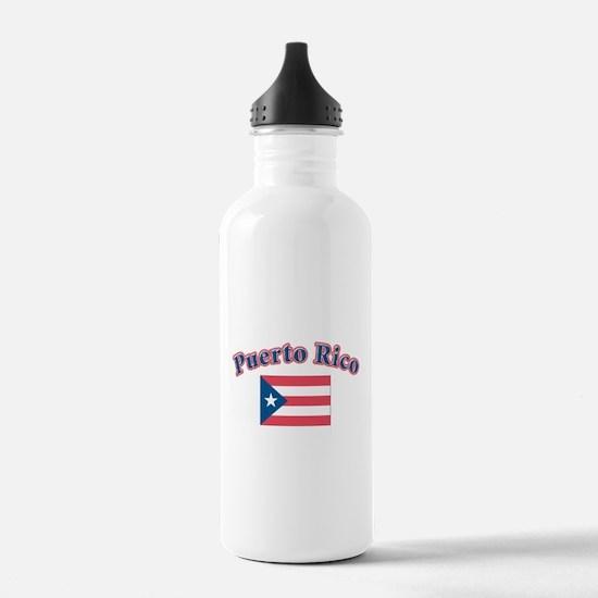 puerto Rico Sports Water Bottle