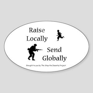 Raise & Send Sticker (Oval)