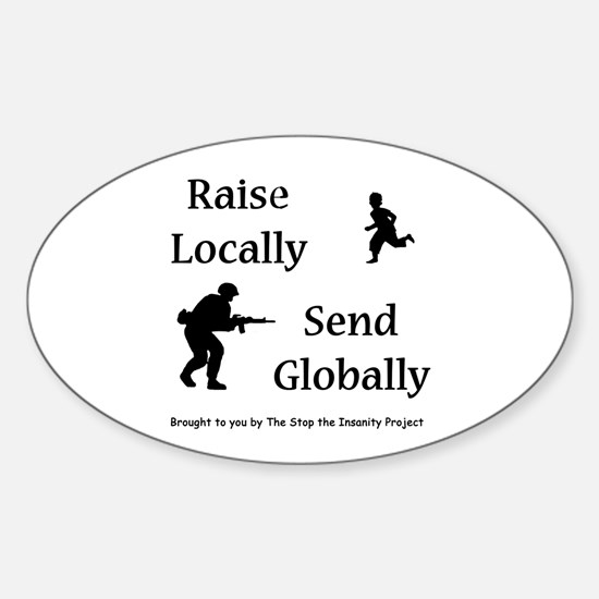 Raise & Send Sticker (Oval)