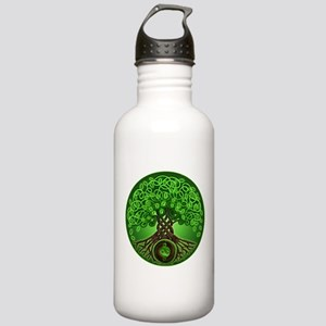 Circle Celtic Tree of Life Stainless Water Bottle