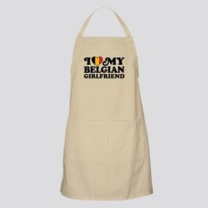 I Love My Belgian Girlfriend Apron