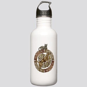 Celtic Cat And Dog Stainless Water Bottle 1.0L