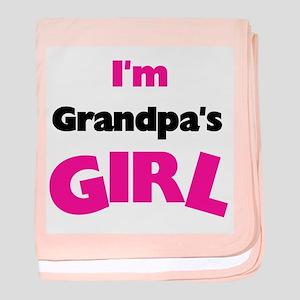 I'm Grandpa's Girl baby blanket