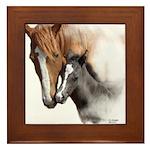 Mare & Foal Mothers Love Framed Tile