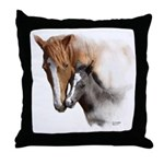 Mare & Foal Mothers Love Throw Pillow