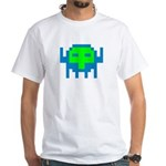 Retro Gamer Space Alien White T-Shirt