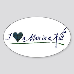 I Love a Man in a Kilt Sticker (Oval)