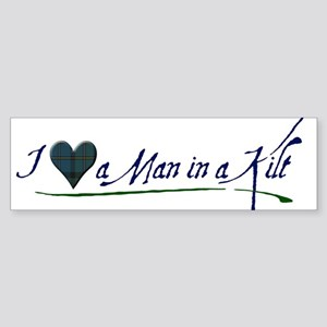 I Love a Man in a Kilt Sticker (Bumper)