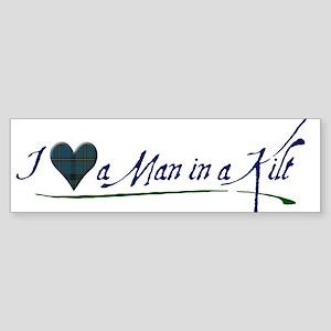 I Love a Man in a Kilt Sticker (Bumper)