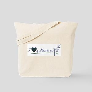 I Love a Man in a Kilt Tote Bag