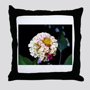 Peppermint Zinnia Throw Pillow