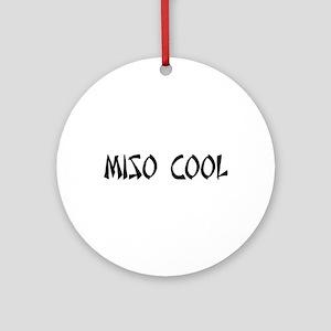 Miso Cool Ornament (Round)