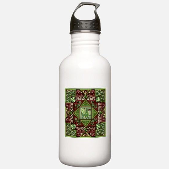 Celtic Dragon Labyrinth Water Bottle