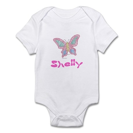 Pink Butterfly Shelly Infant Creeper