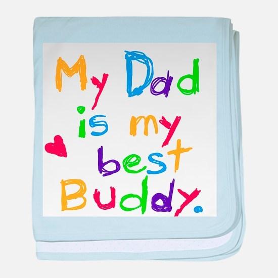 Dad Best Buddy baby blanket
