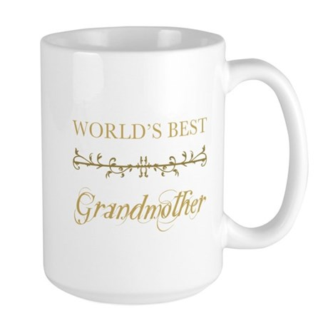 Elegant World's Best Grandmother Large Mug