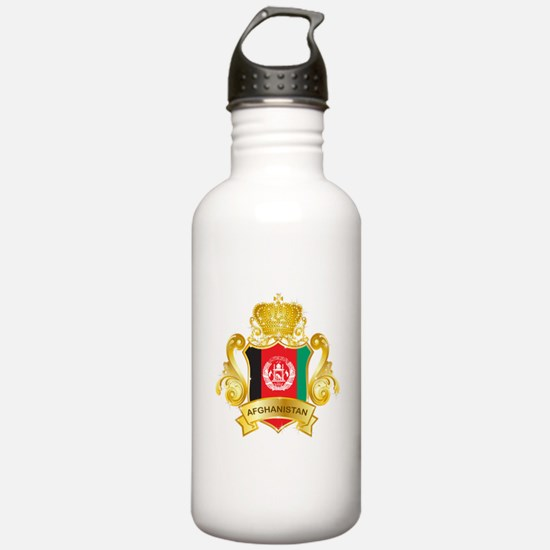 Gold Afghanistan Sports Water Bottle