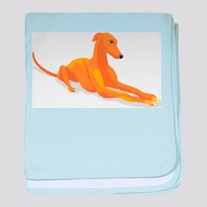 greyhound drawing baby blanket