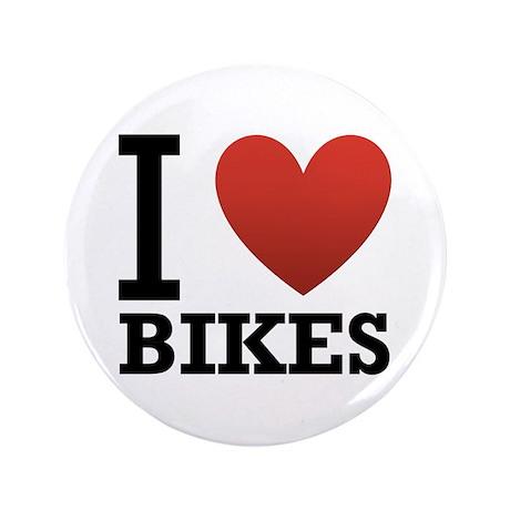 "I Love Bikes 3.5"" Button"
