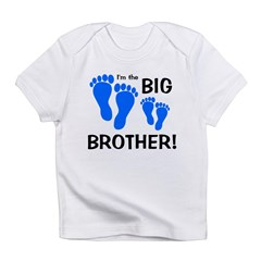 Big Brother Baby Footprints Infant T-Shirt