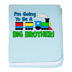 Big Brother To Be TRAIN baby blanket