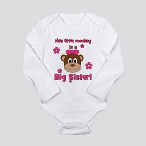 Little Monkey Is Big Sister! Long Sleeve Infant Bo