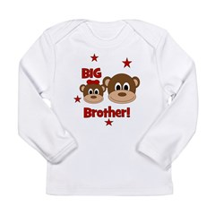 BIG Brother! Monkey Long Sleeve Infant T-Shirt