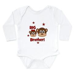 BIG Brother! Monkey Long Sleeve Infant Bodysuit