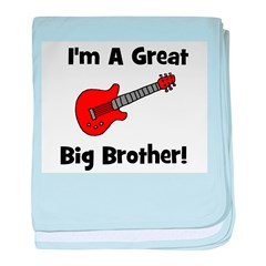 Great Big Brother (guitar) baby blanket
