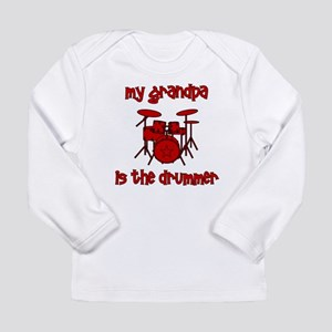 My Grandpa is the Drummer Long Sleeve Infant T-Shi