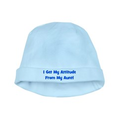 I Get My Attitude from My Aun baby hat