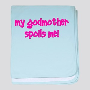 My Godmother Spoils Me! pink baby blanket