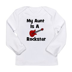 My Aunt Is A Rockstar Long Sleeve Infant T-Shirt