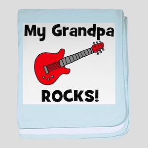 My Grandpa Rocks! (guitar) baby blanket
