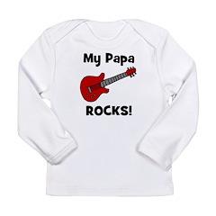 My Papa Rocks! (guitar) Long Sleeve Infant T-Shirt