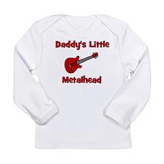 Daddy's Little Metalhead Long Sleeve Infant T-Shir