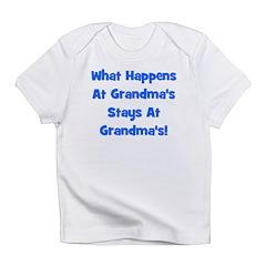 What Happens At Grandmas Blue Infant T-Shirt