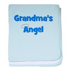 Grandma's Angel - Blue baby blanket