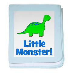Little Monster - Dinosaur baby blanket
