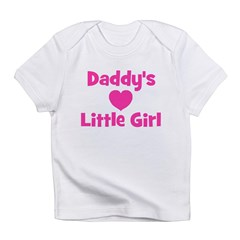 Daddy's Little Girl with hear Infant T-Shirt