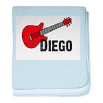 Guitar - Diego baby blanket
